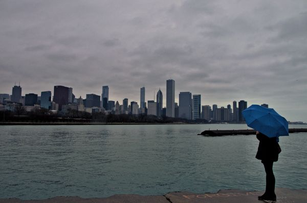 Cool Things to do in Chicago in Winter - Emily Perkinson - Skyline from University Campus
