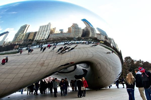 Cool Things to do in Chicago in Winter - Emily Perkinson - The Bean at Millenium Park
