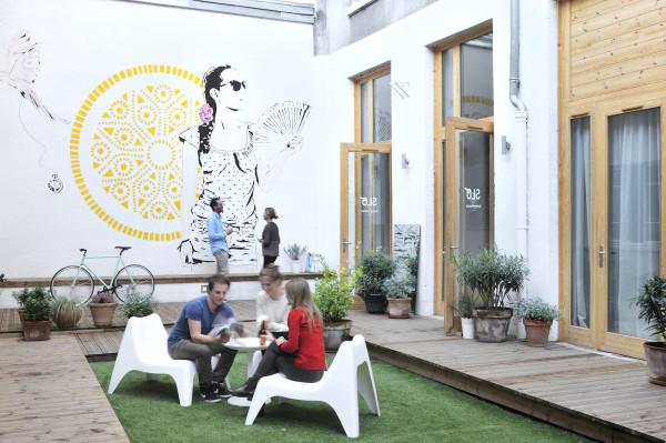 Hostel social area