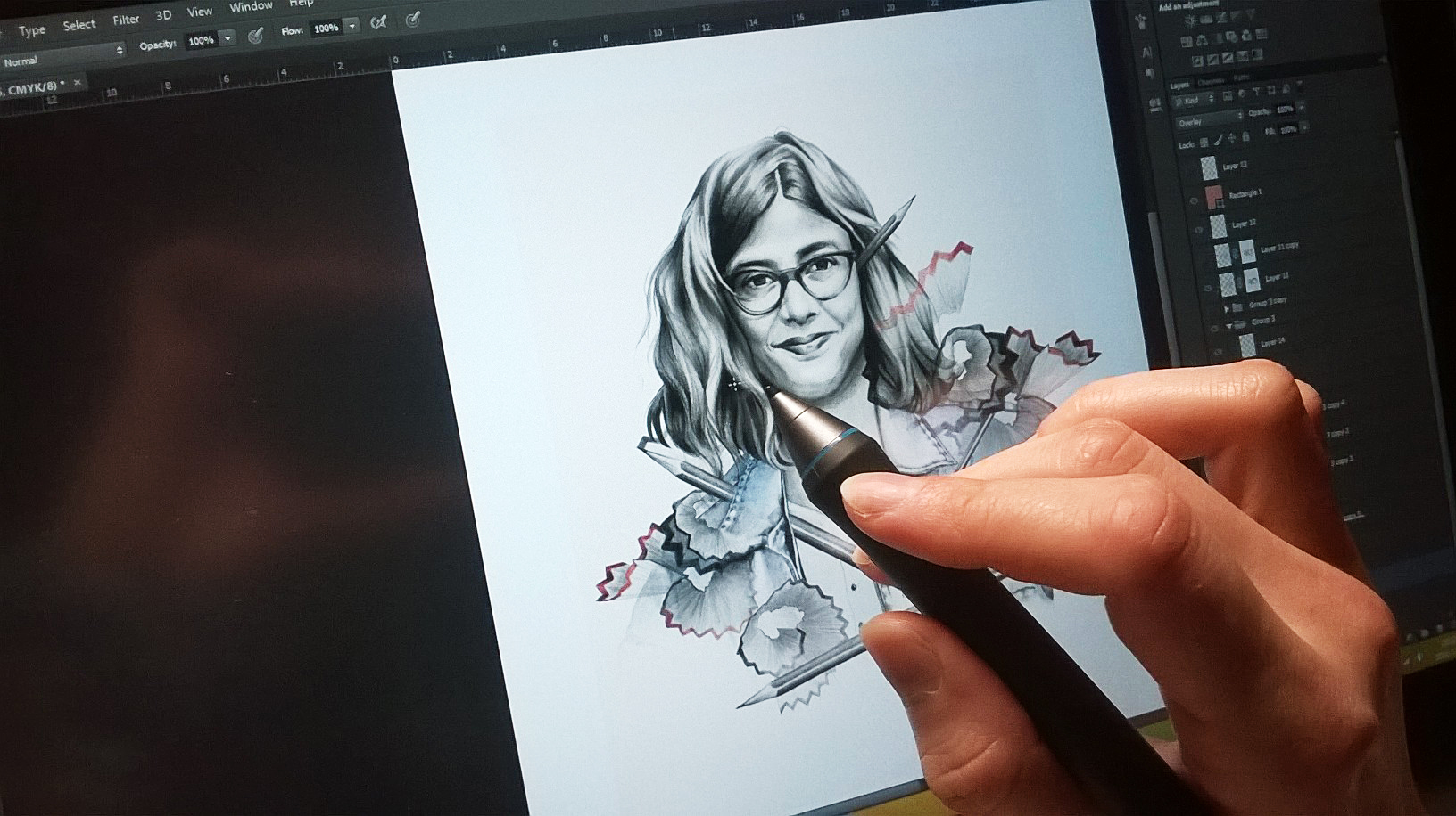 Illustrator at Work