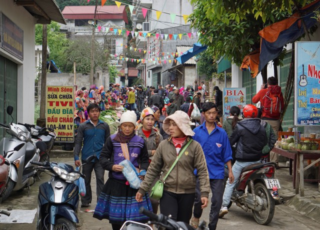 The Sunday market in Bac Ha, Vietnam