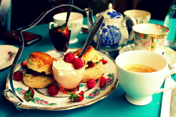 A Vintage-Style British Afternoon Tea