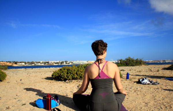 yoga class kathi alone