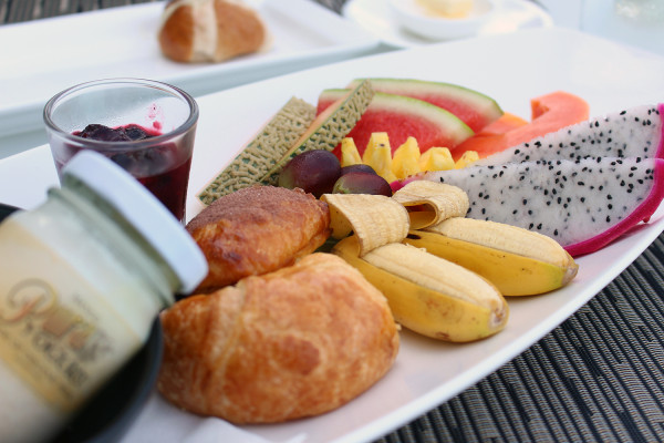 Fruit Platter - Breakfast at Kata Rocks - Photos of Luxury Babymoon in Thailand