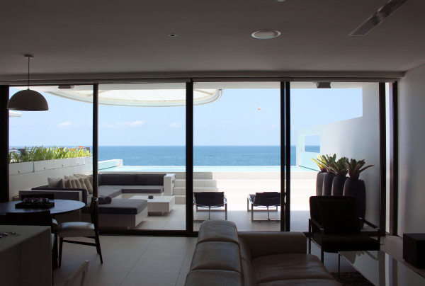 Looking out onto the balcony of Kata Rocks Apartment - Photos of Luxury Babymoon in Thailand