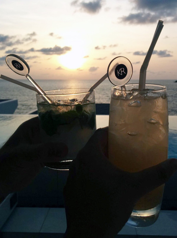 Sunset Cocktails at Kata Rocks - Luxury Babymoon in Thailand