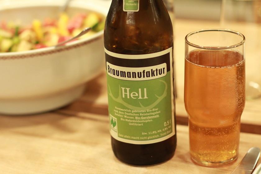 Organic local beer