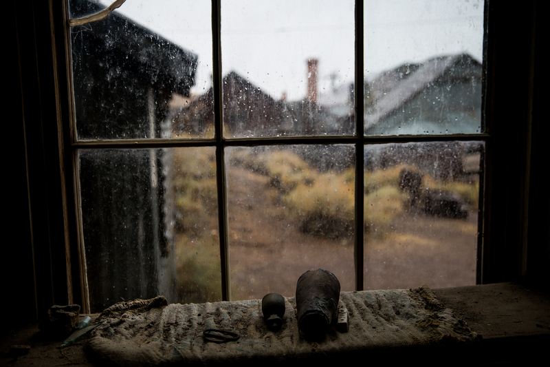 An abandoned stamp mill in the gold-mining ghost town of Bodie, California is part of the Bodie State Historic Park.
