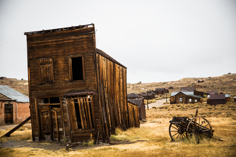 The gold-mining ghost town of Bodie, California is part of the Bodie State Historic Park.