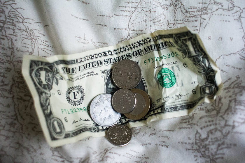 saving up for travel, travel money