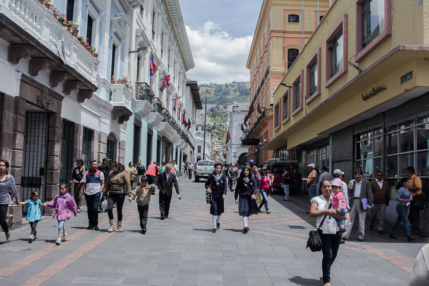 The Travelettes Guide to Quito - Old Town Pedestrian Streets 1
