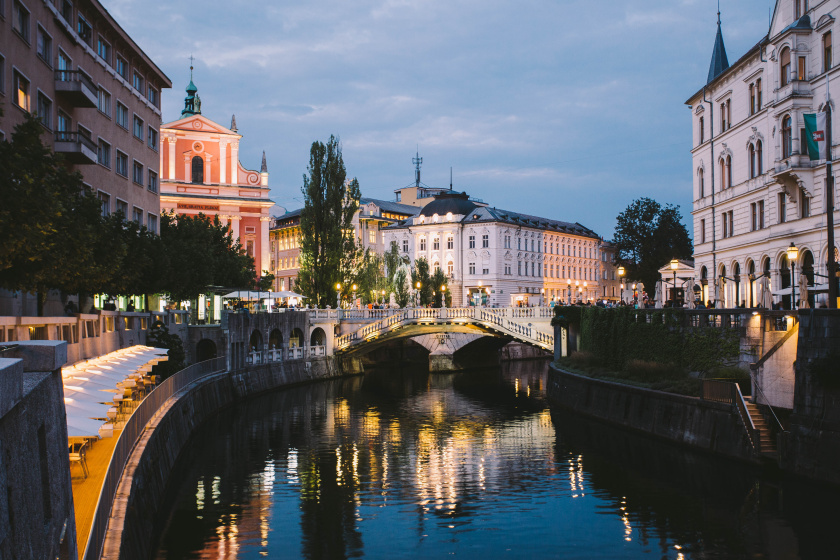 1. Ljubljana Triple Bridge at Night