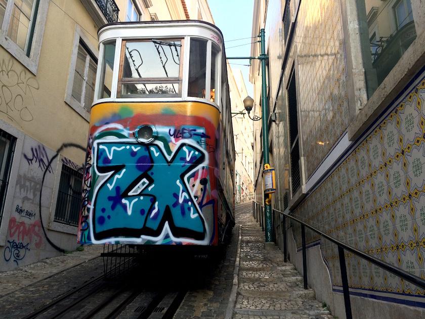 vintage trams in lisbon