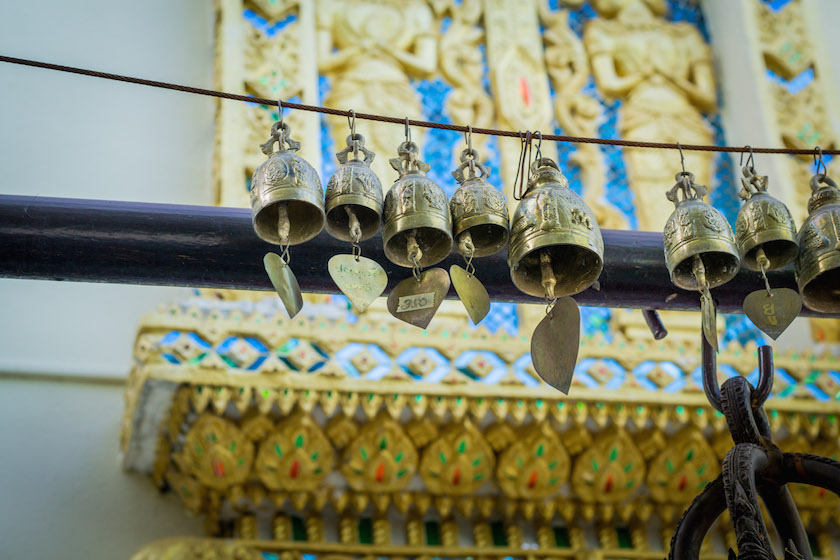 Bells Buddhism Prayer Temple Thailand