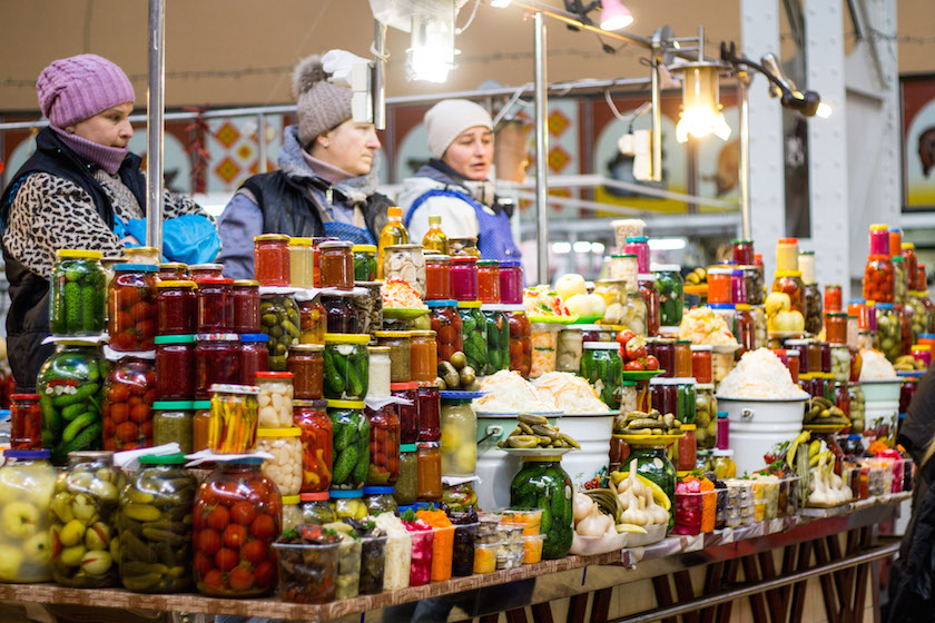 Kyiv Kiev City Guide Bessarabska Market