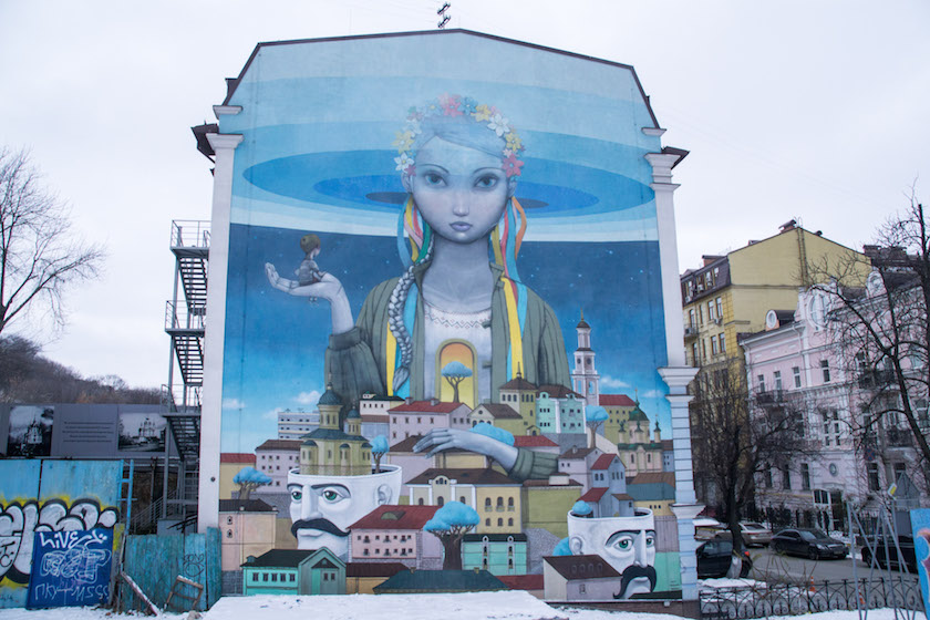 Kyiv Kiev City Guide Murals Walking Tour