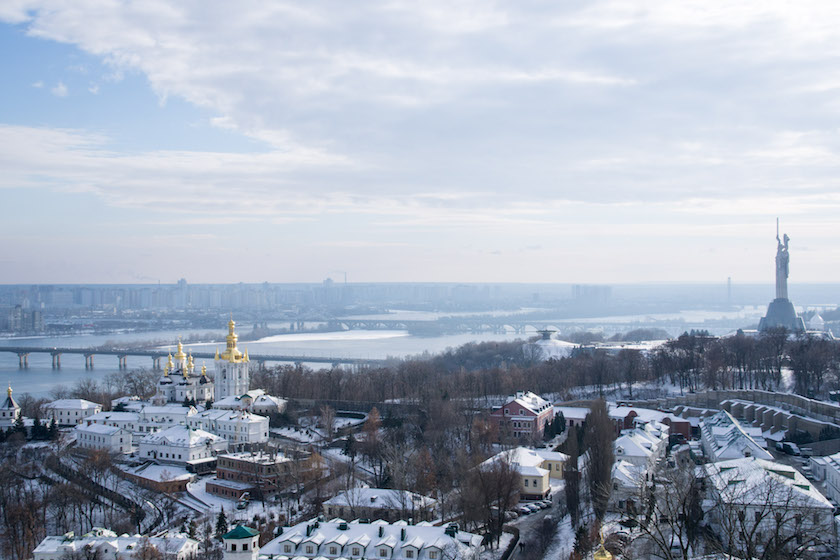 Kyiv Kiev Guide Pechersk Lavra Monastery Bell Tower View
