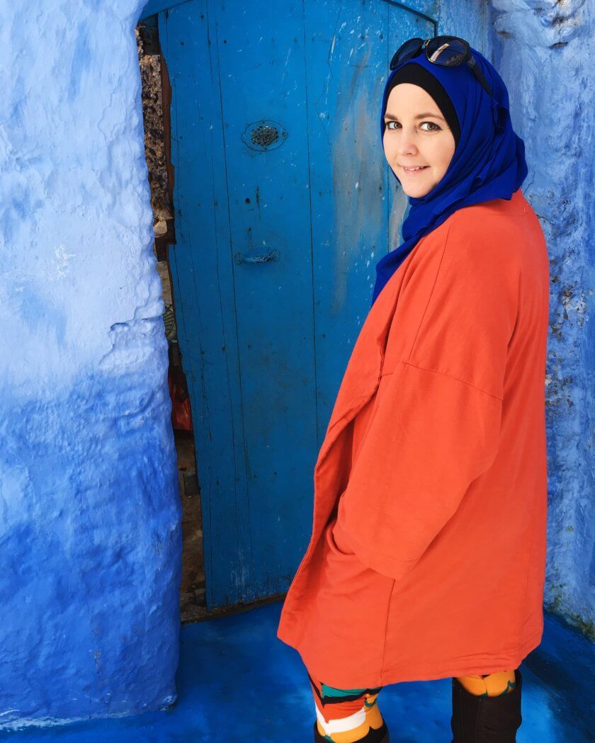 Every month we introduce you to an inspiring traveling woman as our travelette of the month. Meet Amanda Ponzio-Mouttaki, the original MarocMama, travel blogger and foodie based in Morocco.