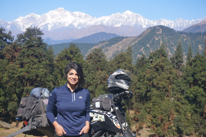 This woman defies the stereotypes of her culture by biking across India & Nepal - read the full interview here!