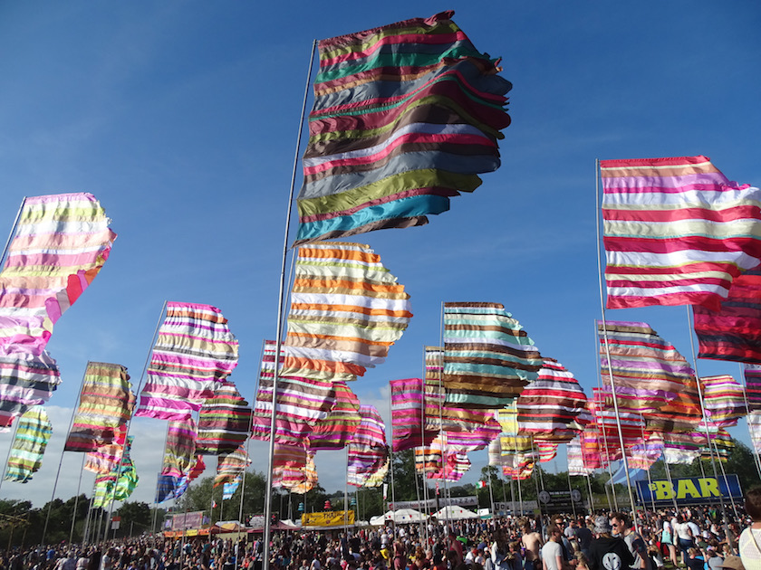 Glastonbury festival in England is so much more than just a music festival - it has an important message and should be experienced with all the senses!