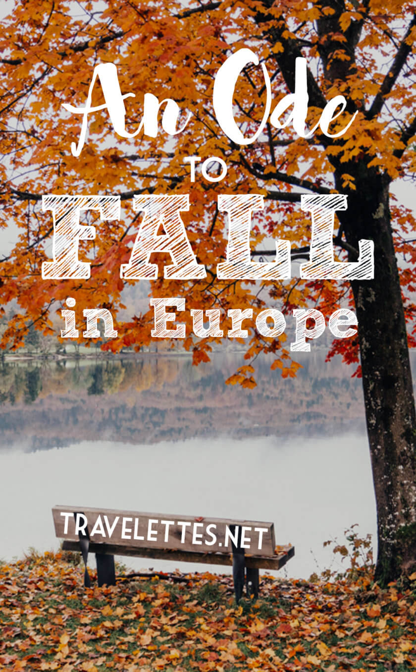 Off season travel in Europe comes with a lot of perks - the beautiful colors of Fall in Europe are just one of them!