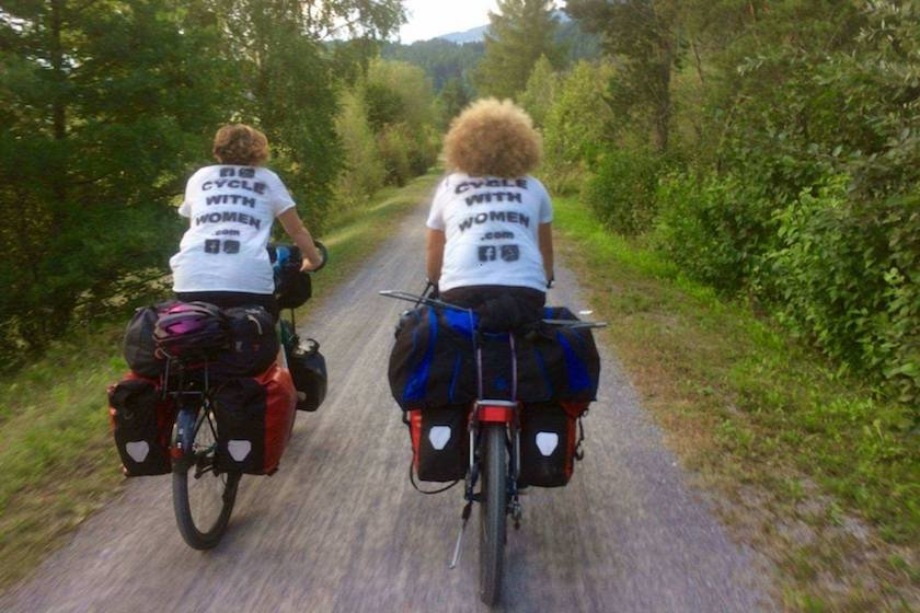 "What happens when two women from Germany and Czech Republic cycle across Africa? They start a social enterprise ""Cycle with Women"" and support local women!"