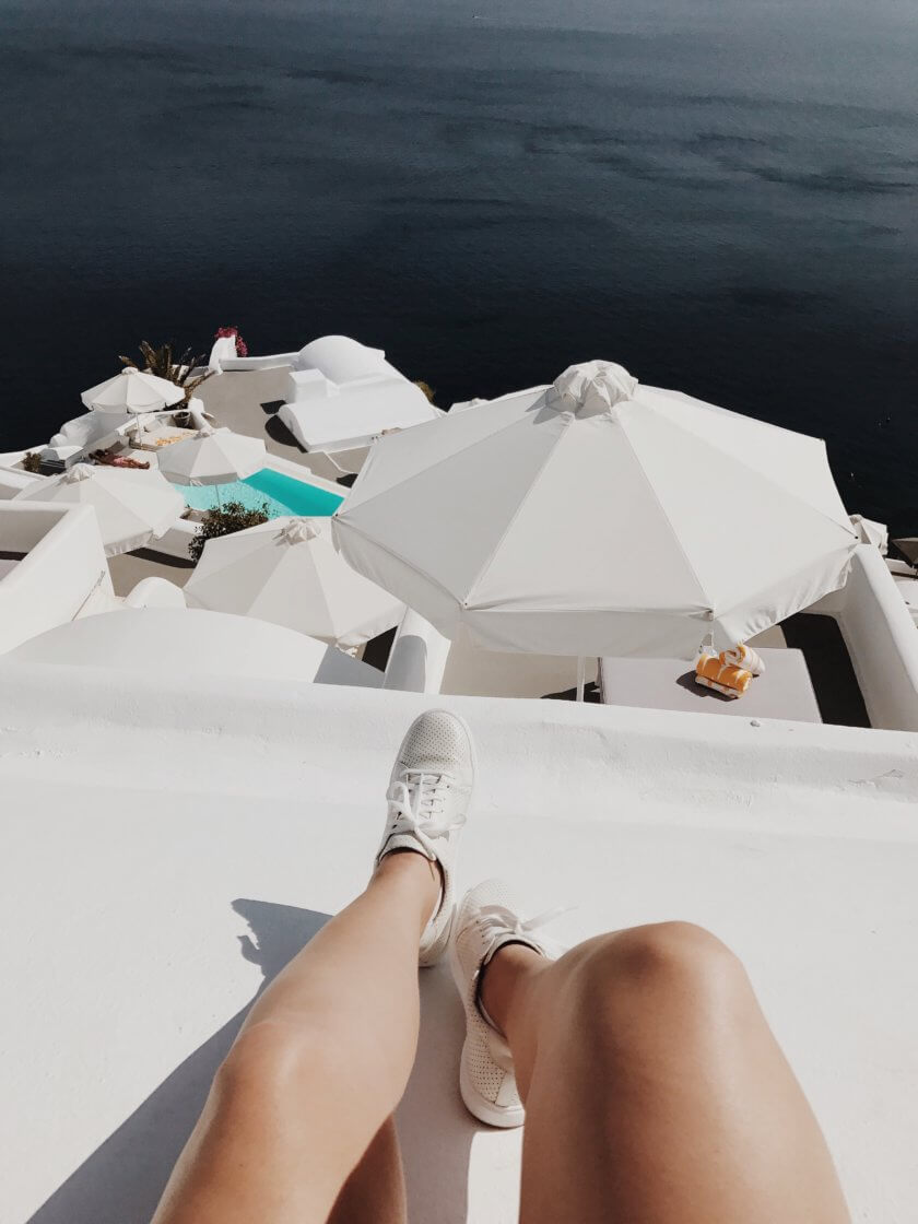 If you google'roof tops in Santorini' you will find gorgeous photos & tips for the best IG locations - but there is more to these shots than meets the eye.