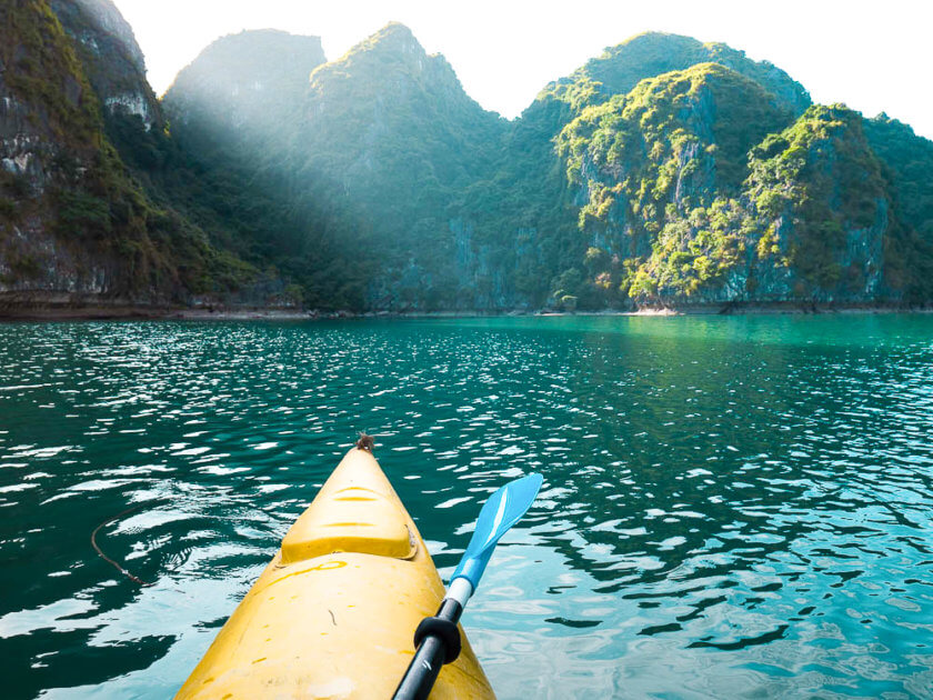 Kayaking in Vietnam
