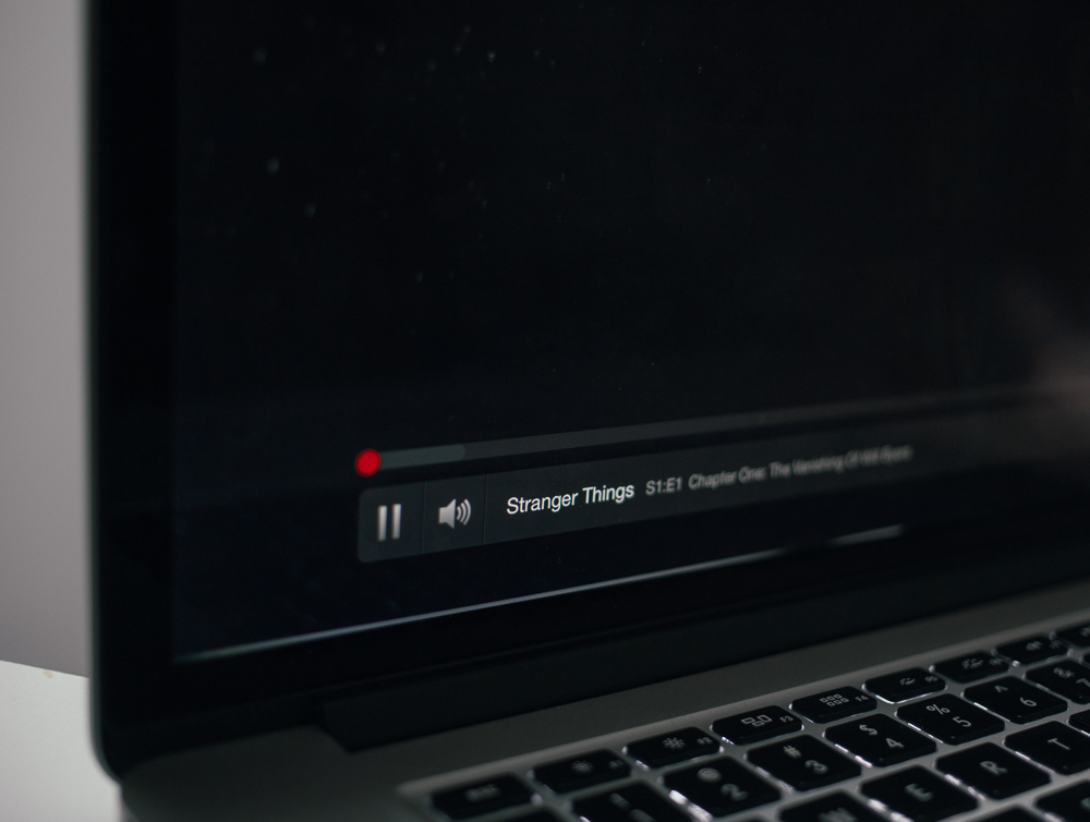 Watching Stranger Things on Netflix