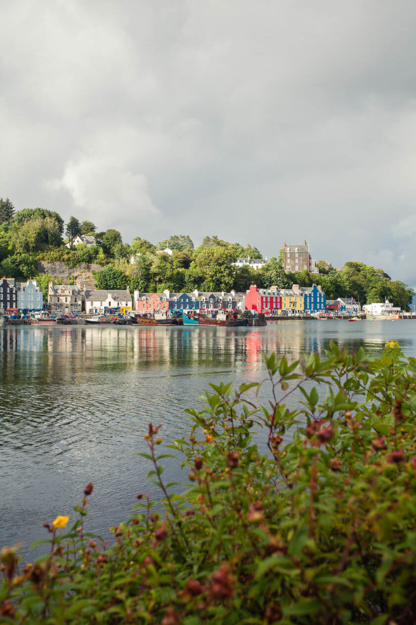 The colourful harbour front of Tobermory on the Isle of Mull in Scotland.