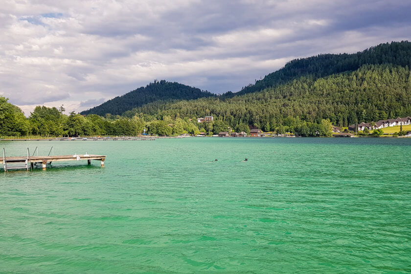 The beautiful lake Klopein in Carinthia - Austria's warmest lake!