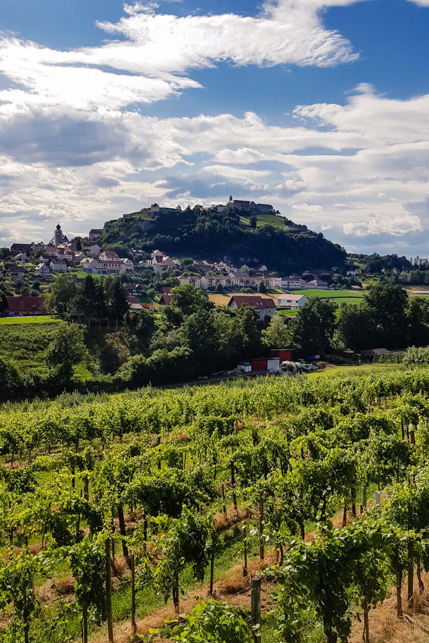 View of Riegersburg in Austria