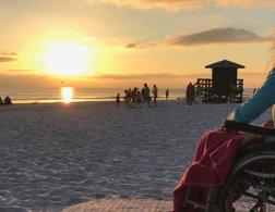 The adventurer who travels the globe in a wheelchair