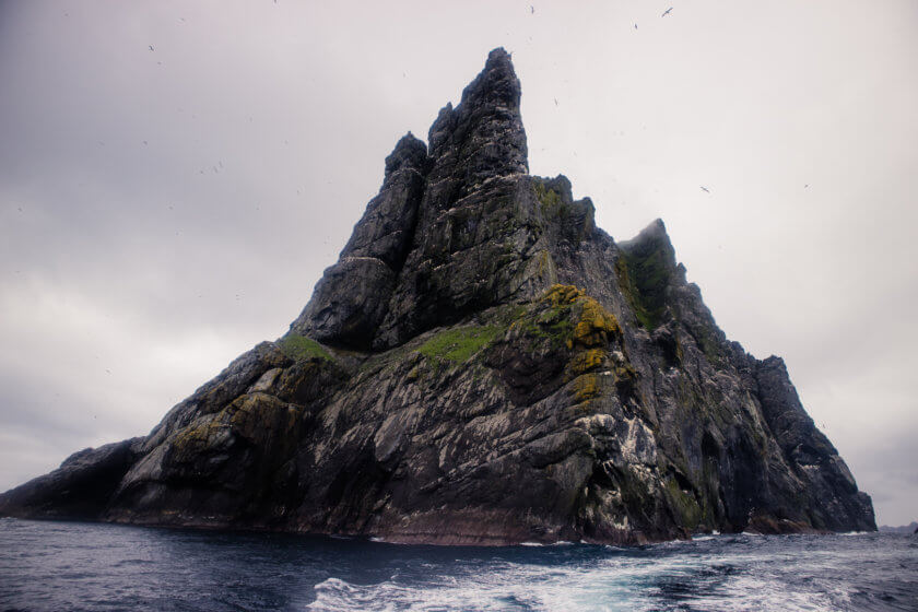 A sea stac at St Kilda.