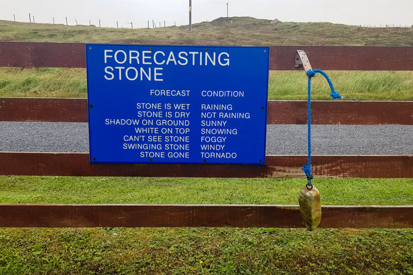 The weather forecasting stone on Berneray