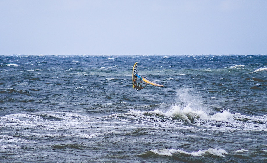 Wind surfing in Poland