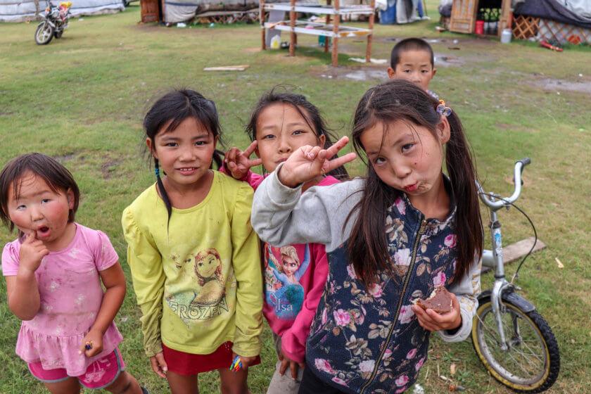 mongolian kids by eleni philippou